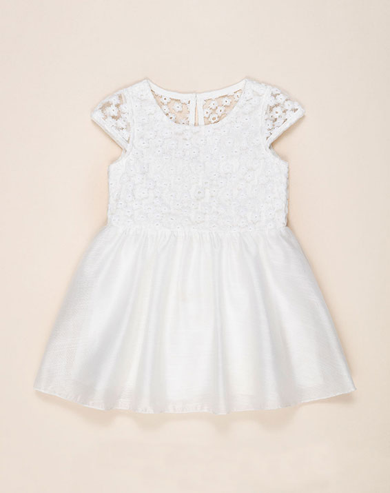 Vestido Para Bebé Niña Dreko Blanco Baby Fresh
