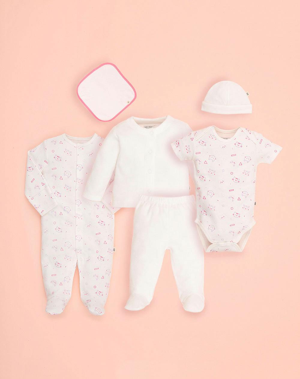 cdcb3dcf7ba8 Set para Bebé Niña Primer Día Blanco Baby Fresh