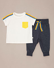 0f962f86439 Imagen para Conjunto para Bebé Niño Amef Azul de Baby Fresh