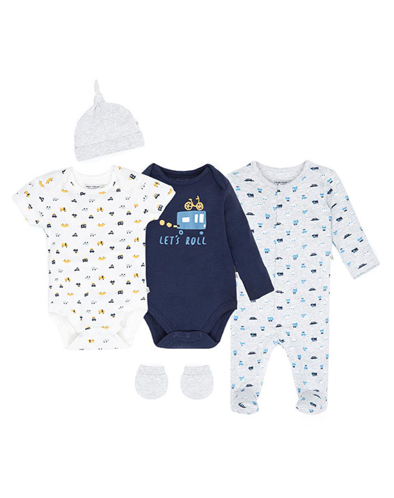 Imagen para Set New Baby Gris Heather de  Baby Fresh