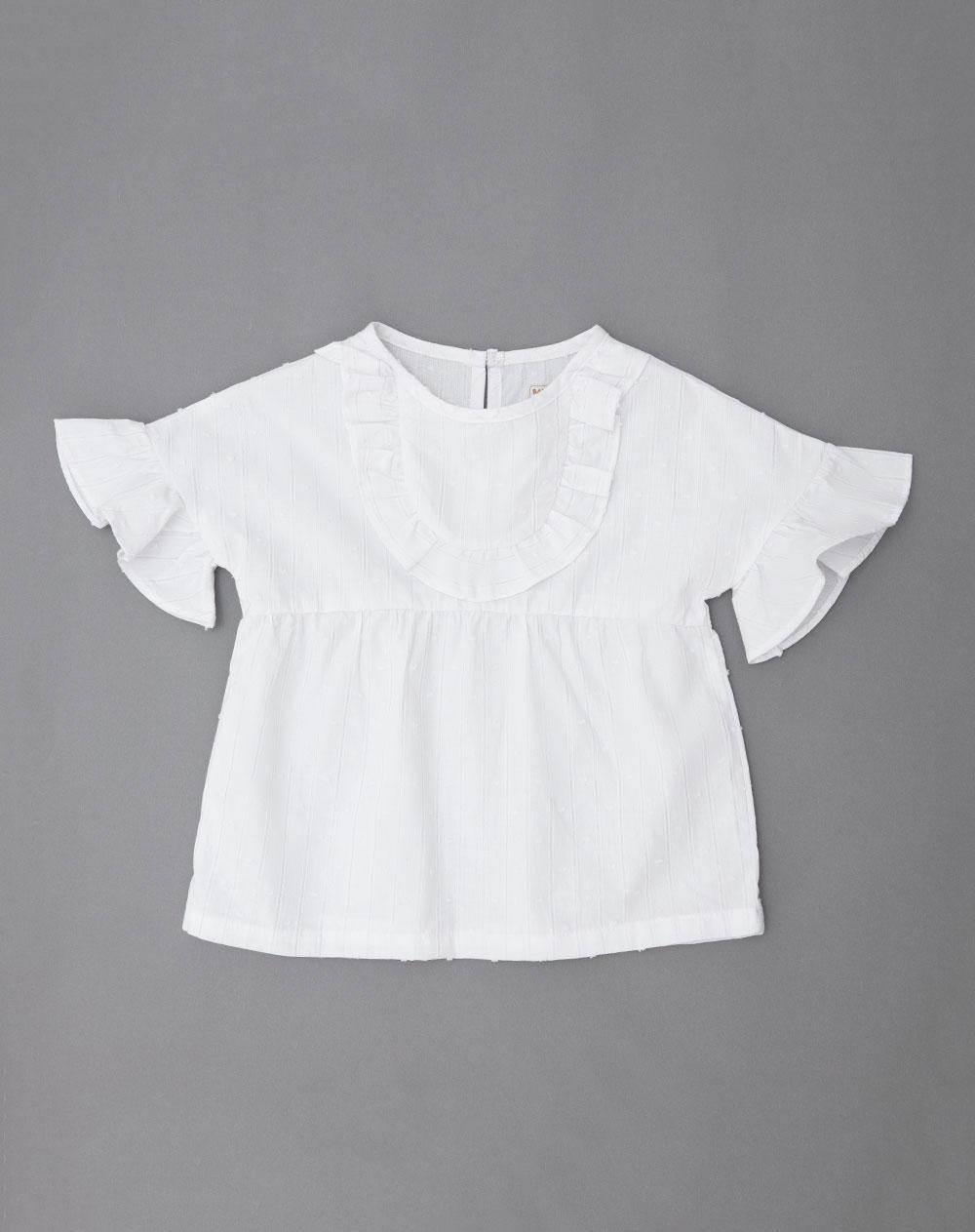8b6a5a498 Camisa para Bebé Niño Bafe Blanca Baby Fresh