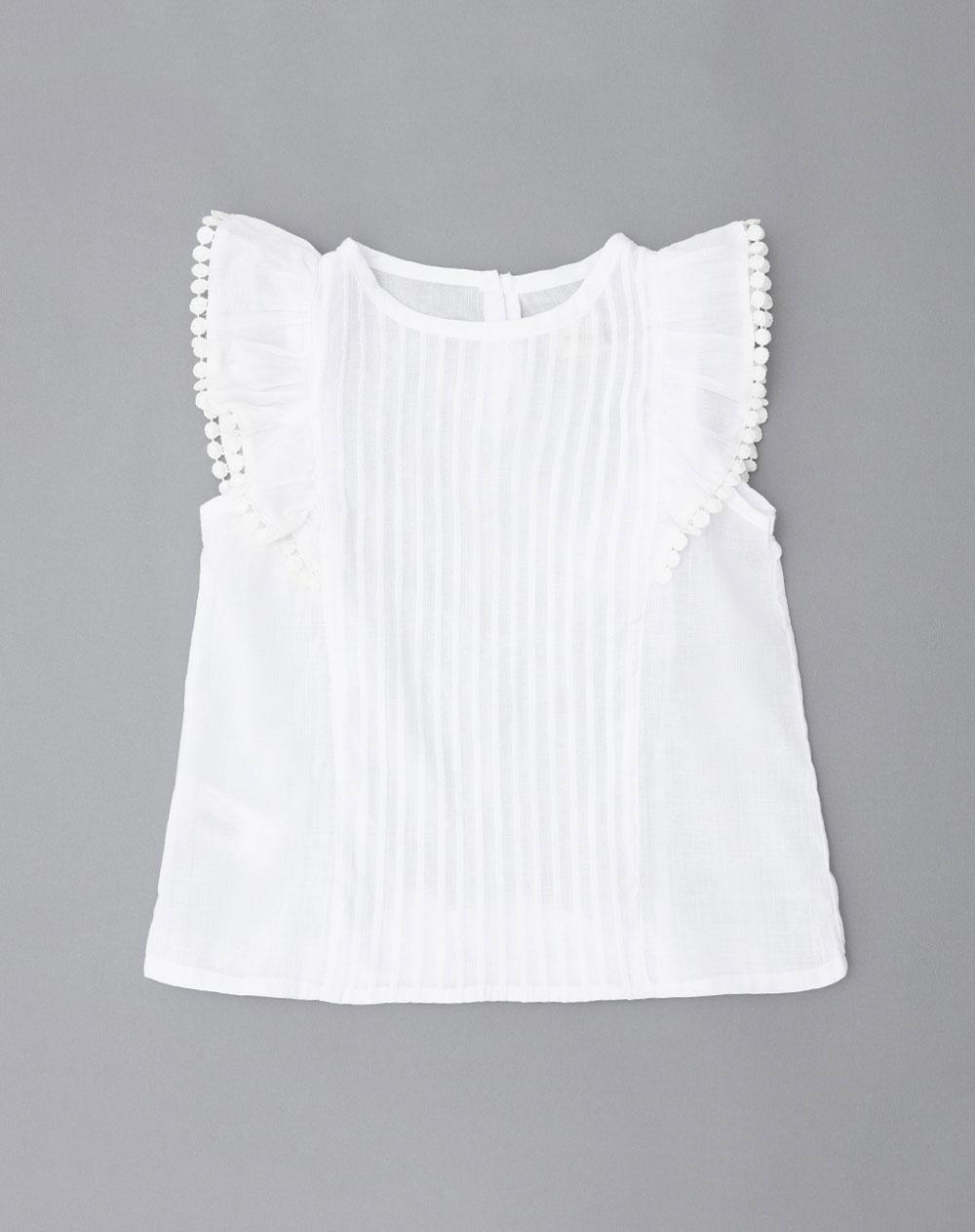 cc196d30a2e93 Camisa para Bebé Niña Dochi Blanca Baby Fresh