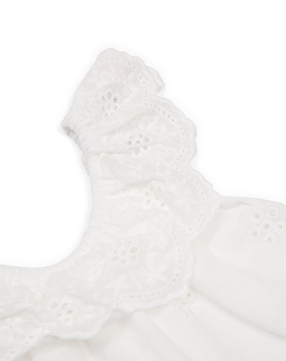 6e0133e34 Vestido para Bebé Niña Gaxu Blanco Baby Fresh