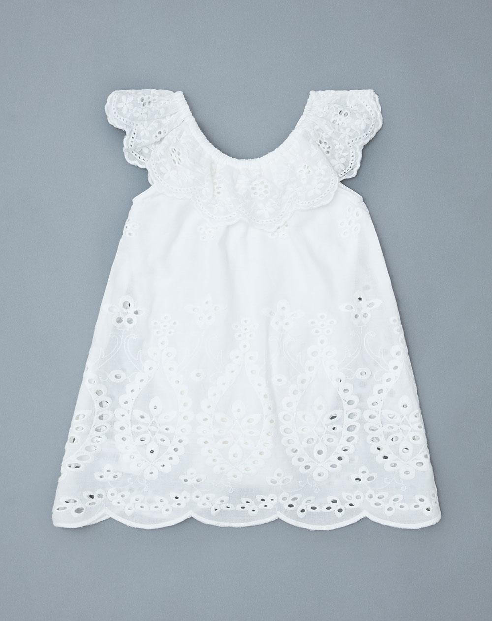 8a480ba43500 Vestido para Bebé Niña Gaxu Blanco Baby Fresh