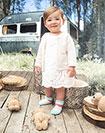 2c4f50f34 ... Imagen para Vestido para Bebé Niña Gaxu Blanco de Baby Fresh