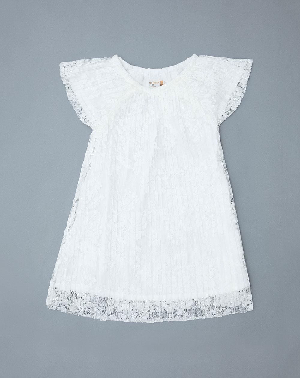 51770e01103b Vestido para Bebé Niña Iyel Blanco Baby Fresh