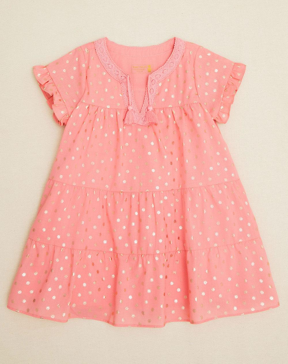 ca288a85bf93e Vestido para Bebé Niña Julls Rosado Baby Fresh